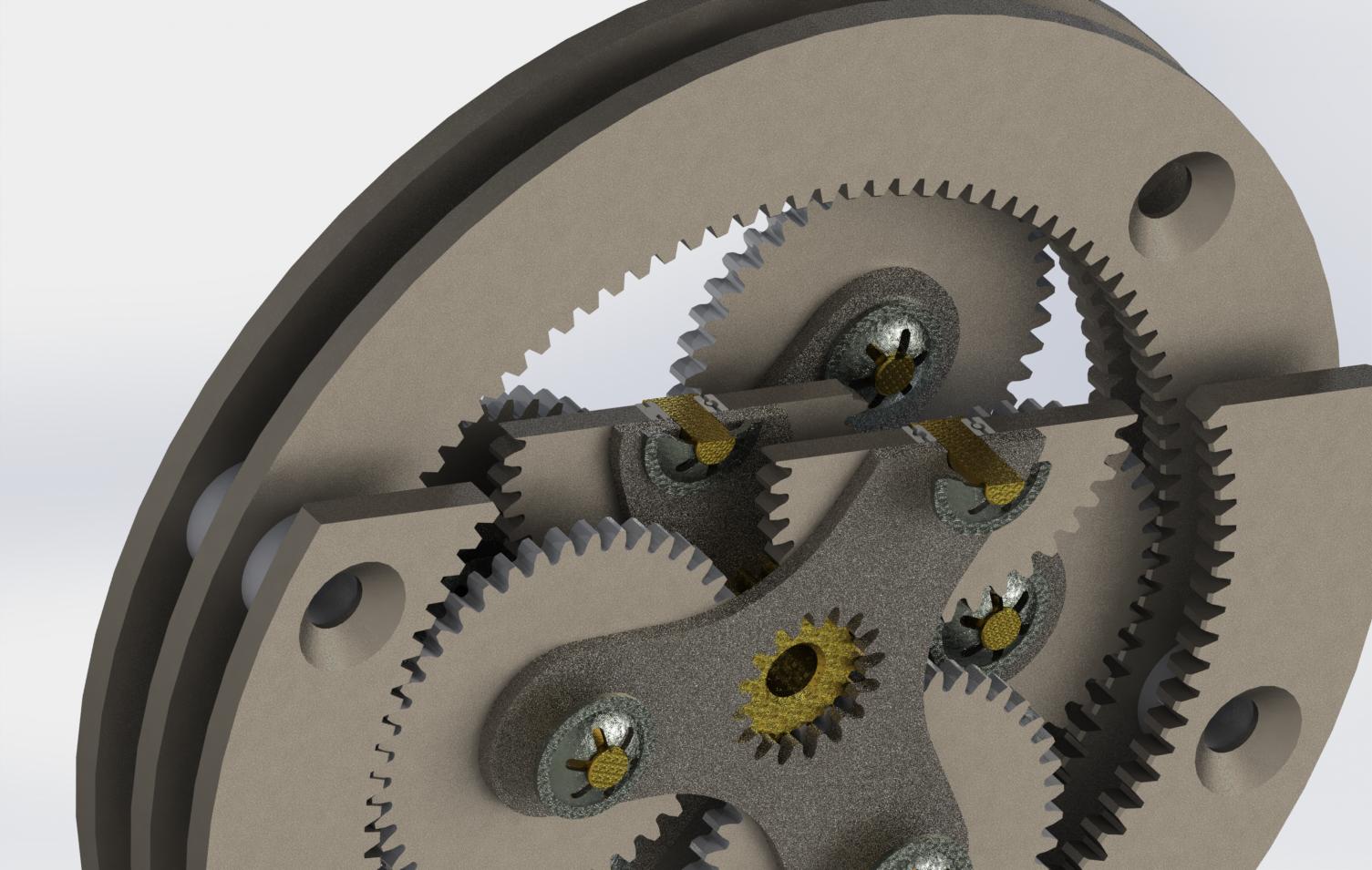 planetary gear setup行星齿轮传动箱3D图纸 STP格式