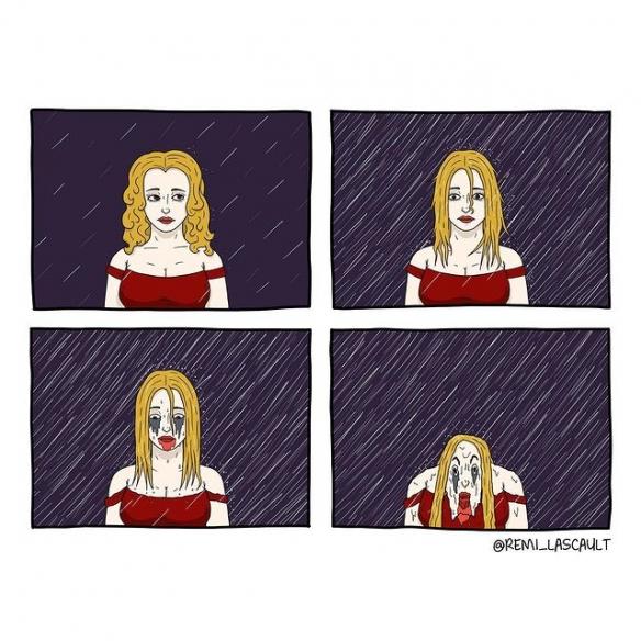 """看不懂的魔性漫畫,轉折速度太快,""""致鬱""""效果明顯"""