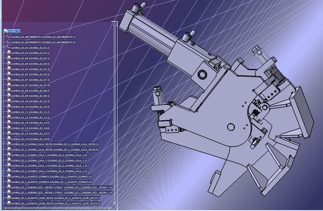 90度摆缸机构3D图纸 STP格式