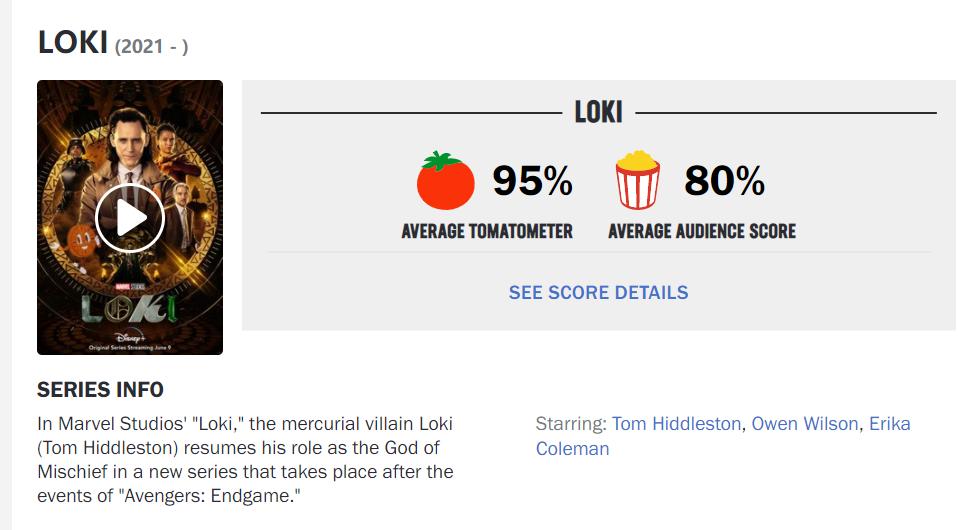 烂番茄鲜度95%,《洛基》一集封神,漫威多元宇宙真的要来了?