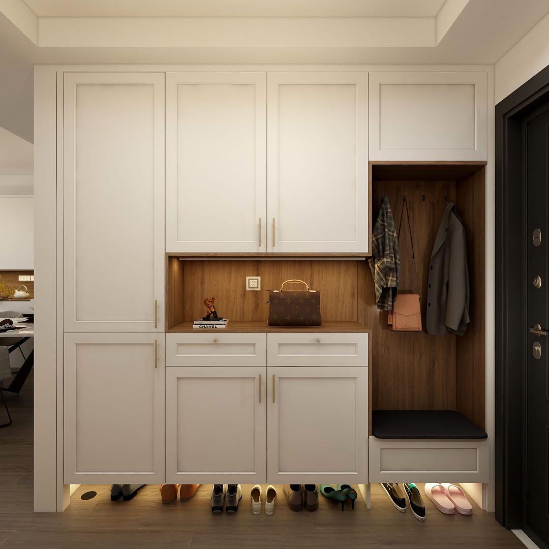 房子装修,玄关鞋柜设计,增加几倍收纳空间
