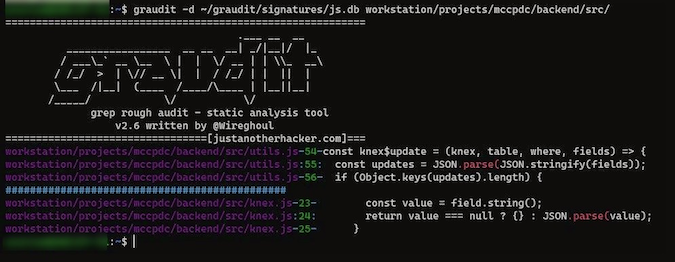 使用命令行工具 Graudit 来查找你代码中的安全漏洞