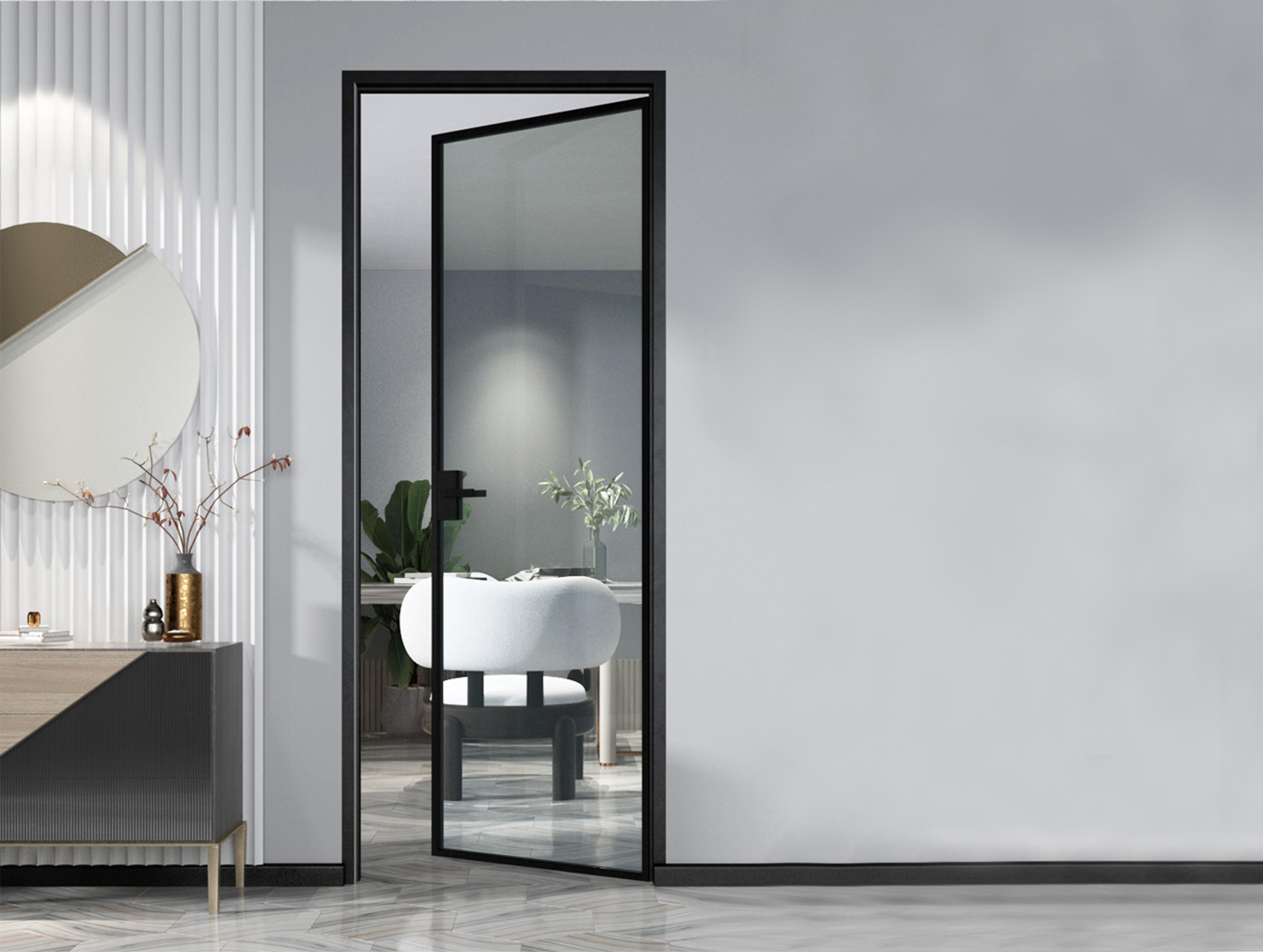 家装卫生间为什么要用铝合金平开门?