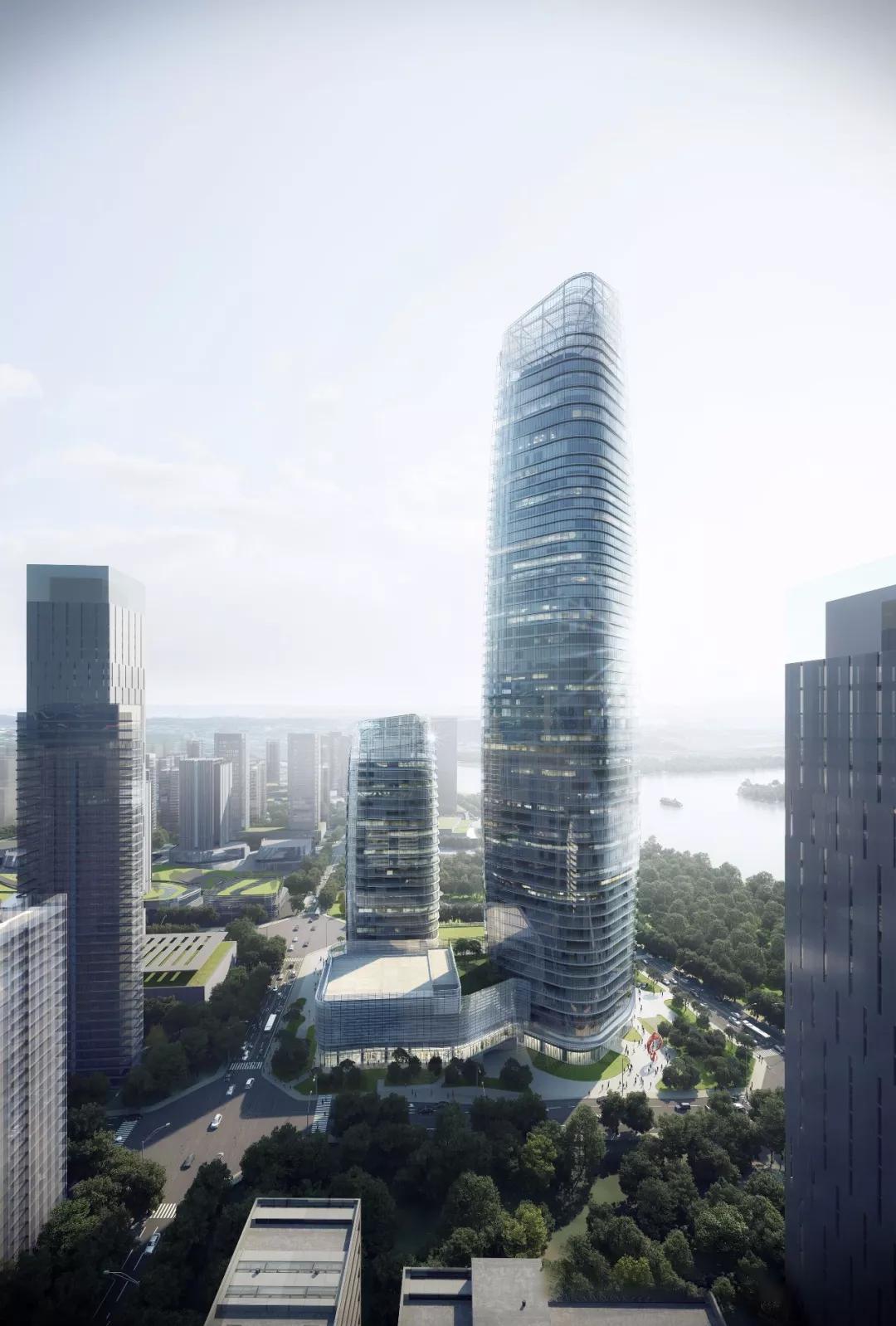 百强城市——宜宾!288米地标建筑核心筒封顶,川南最高摩天楼