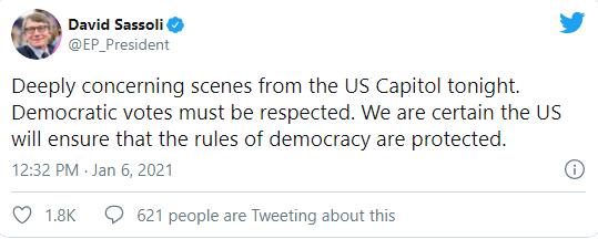 不止华盛顿,特朗普支持者在多地议会抗议!英国、加拿大、北约、欧洲议会等领导人纷纷表态:可耻
