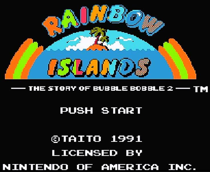 FC彩虹岛,这游戏居然能通关还有隐藏关卡,当年第一关没过的举手
