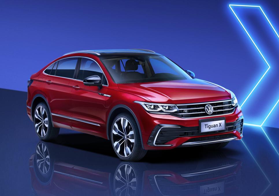 贯穿式尾灯轿跑造型,上汽大众旗下全新轿跑SUV途观X即将发布