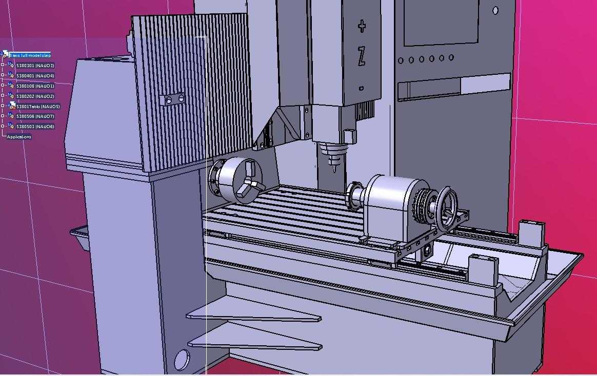 4轴CNC数控机床3D图纸 STEP格式