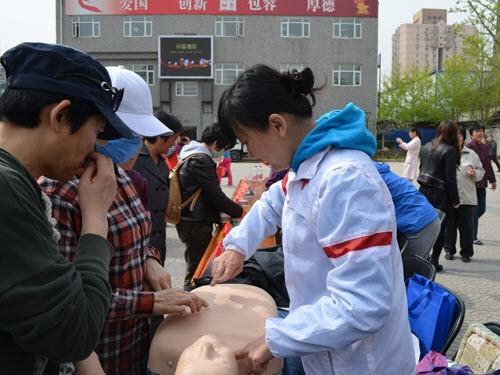 江苏射阳县洋马中心卫生院广泛宣传预防春季传染病防治知识活动