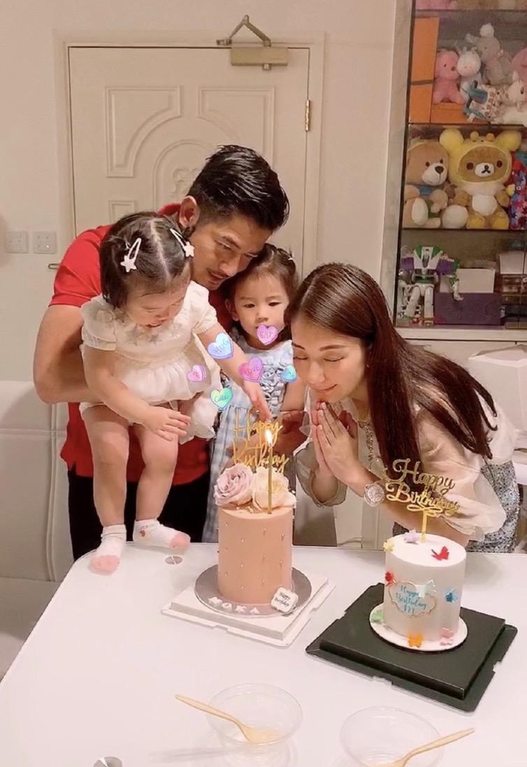 郭富城曬全家福慶祝55歲生日,方媛母女三人齊獻吻,幸福感爆棚