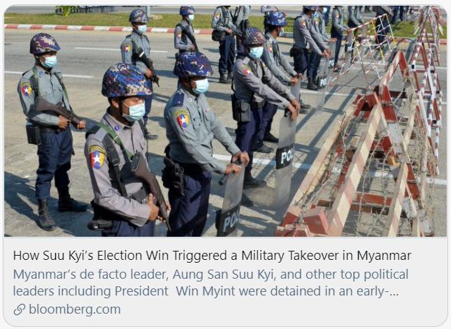 昂山素季被军方扣押,缅甸政局突变
