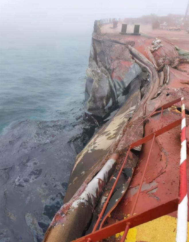 突发!青岛港两船相撞 发生漏油事故