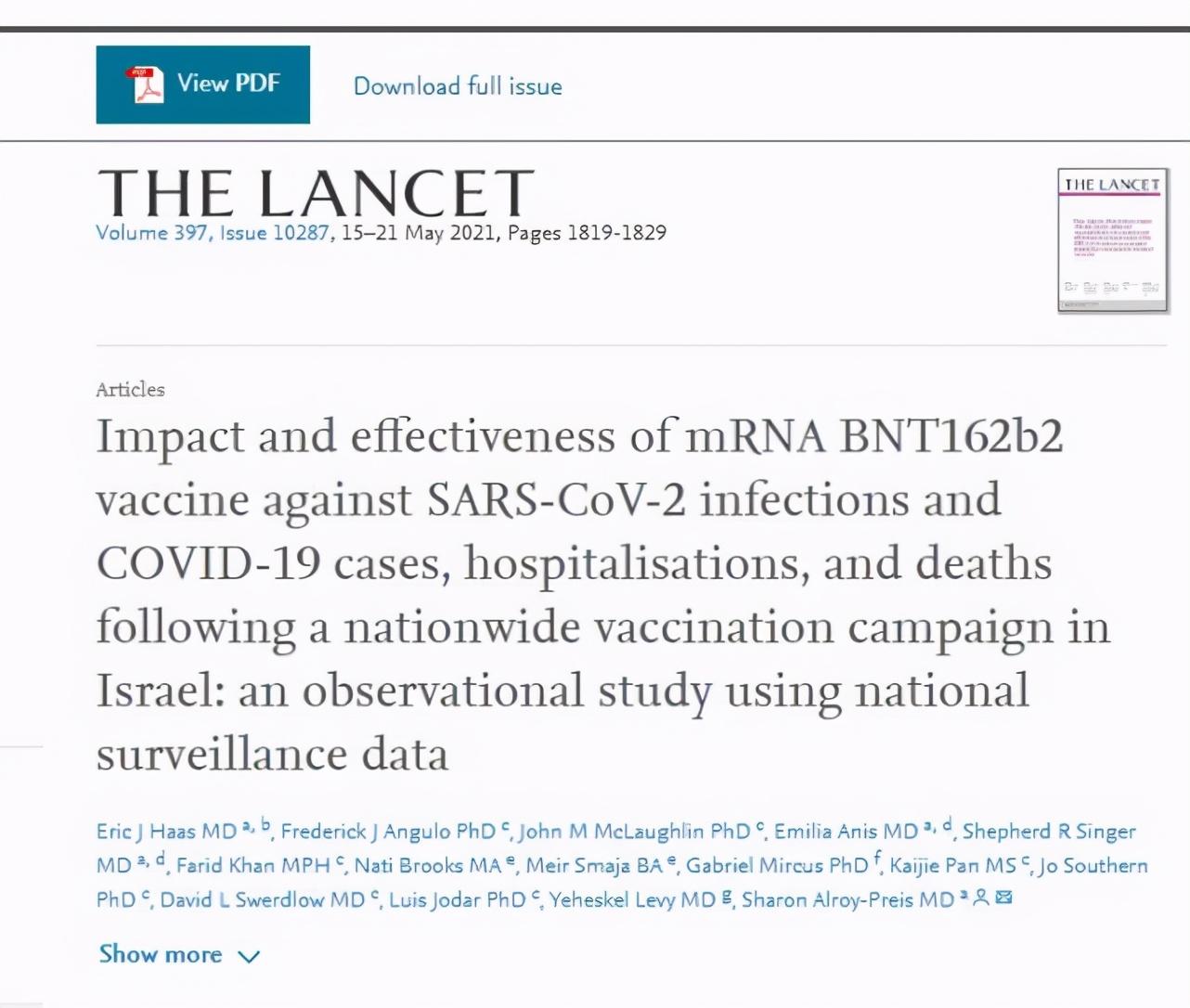 """网传""""以色列卫生署数据公开实证,疫苗根本无法预防Delta变异毒株感染""""?谣言"""