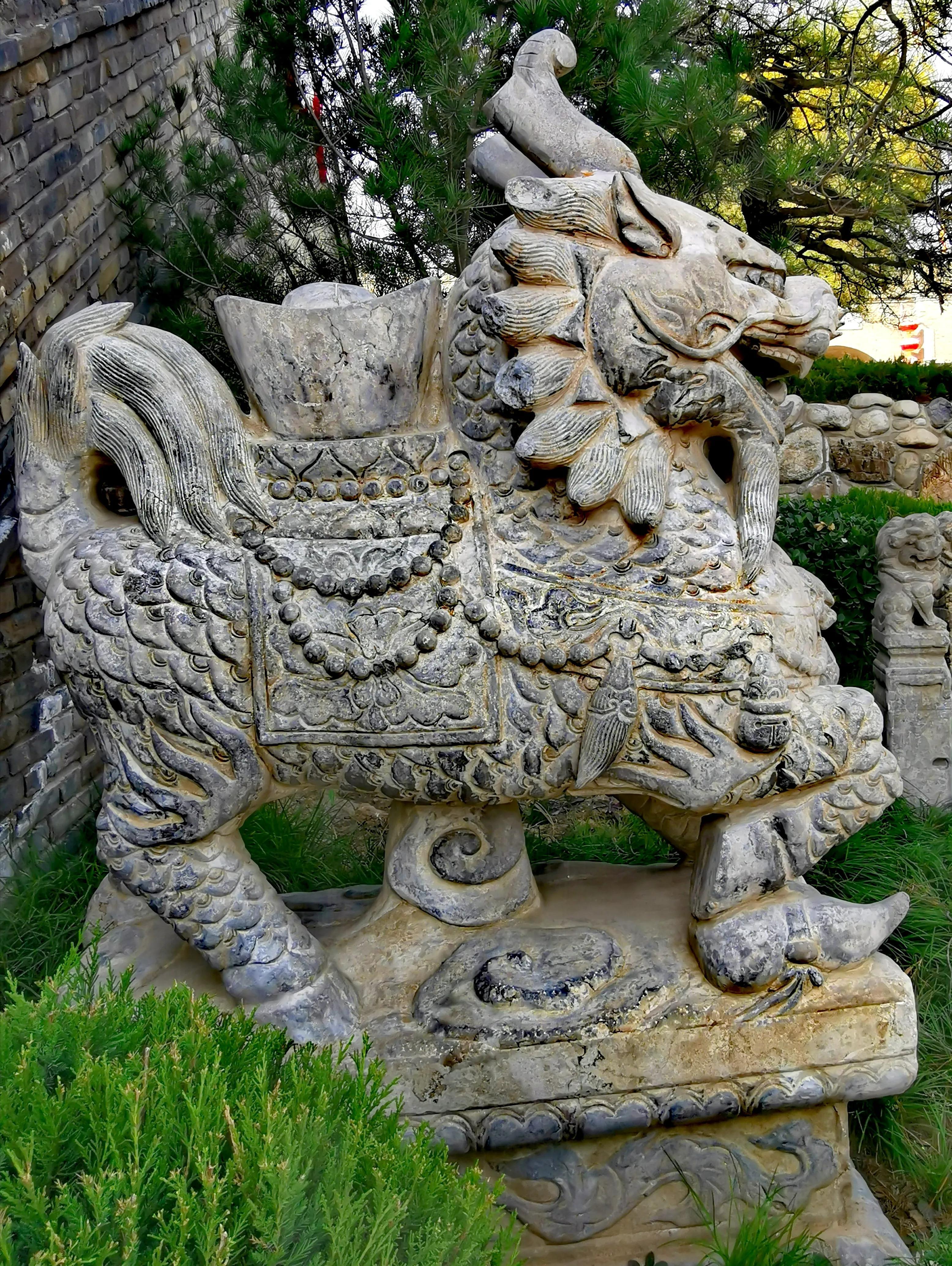 陕西渭南蒲城重泉古镇之石雕和雕塑,带你欣赏雕刻艺术