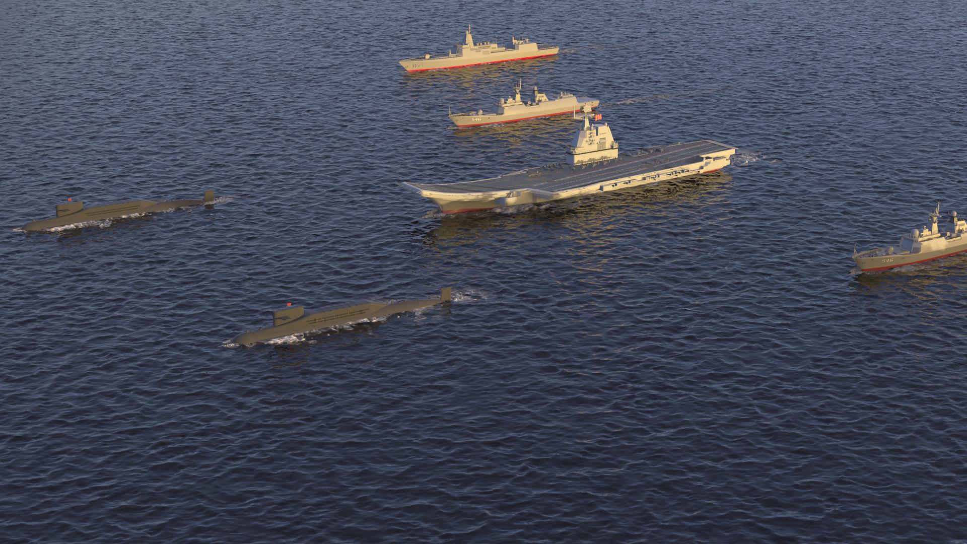 055大驅後續開工建造8艘,中國未來航母編隊規模有點可怕了