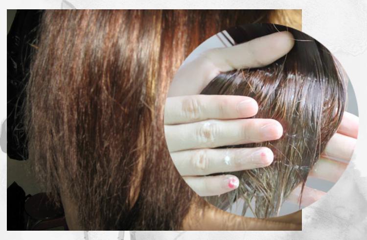 烫染后头发特别干枯别发愁,焗油膏里滴几滴白醋,发质柔软有光泽