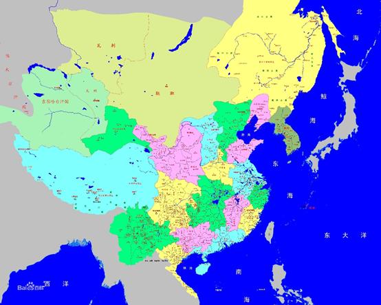 中国古代王朝的历史版图变迁
