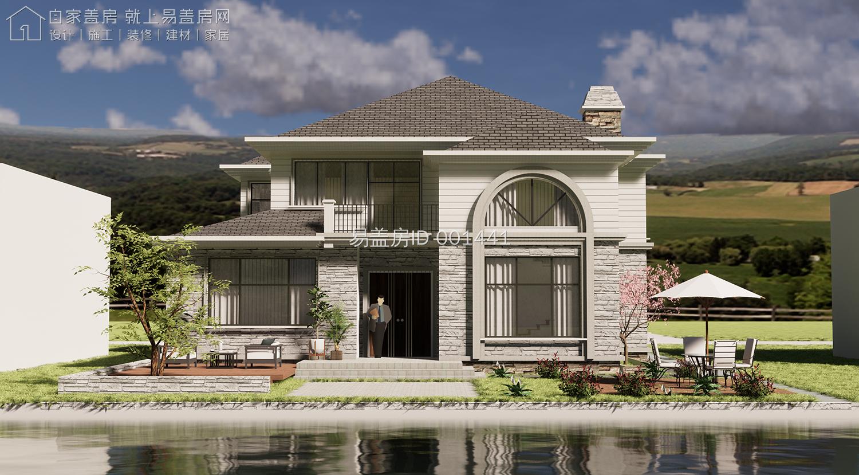 14×13.8米低调奢华二层欧式住宅,挑空客厅3卧室100分