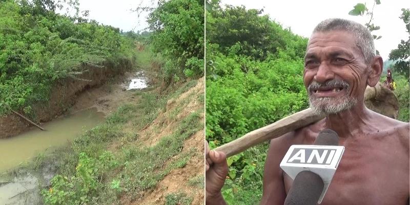 现实版愚公!印度男子徒手挖沟引水到村庄 坚持30年终于挖通