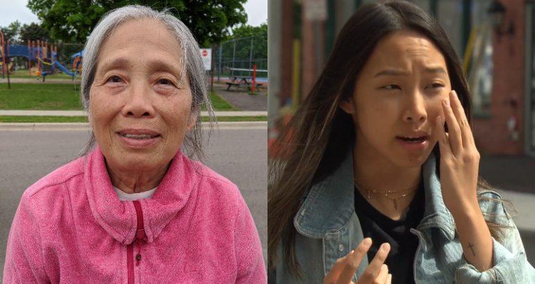 加拿大80岁亚裔老太出家门,莫名遭5少年扔石块砸鸡蛋咒骂不断