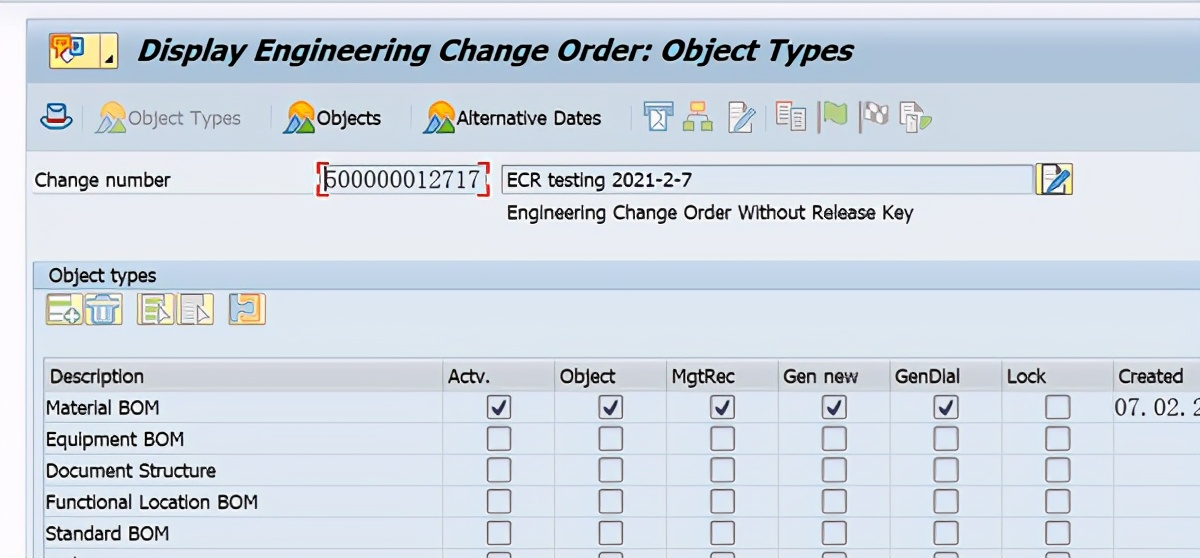 SAP PP C201使用ECR创建Recipe主数据