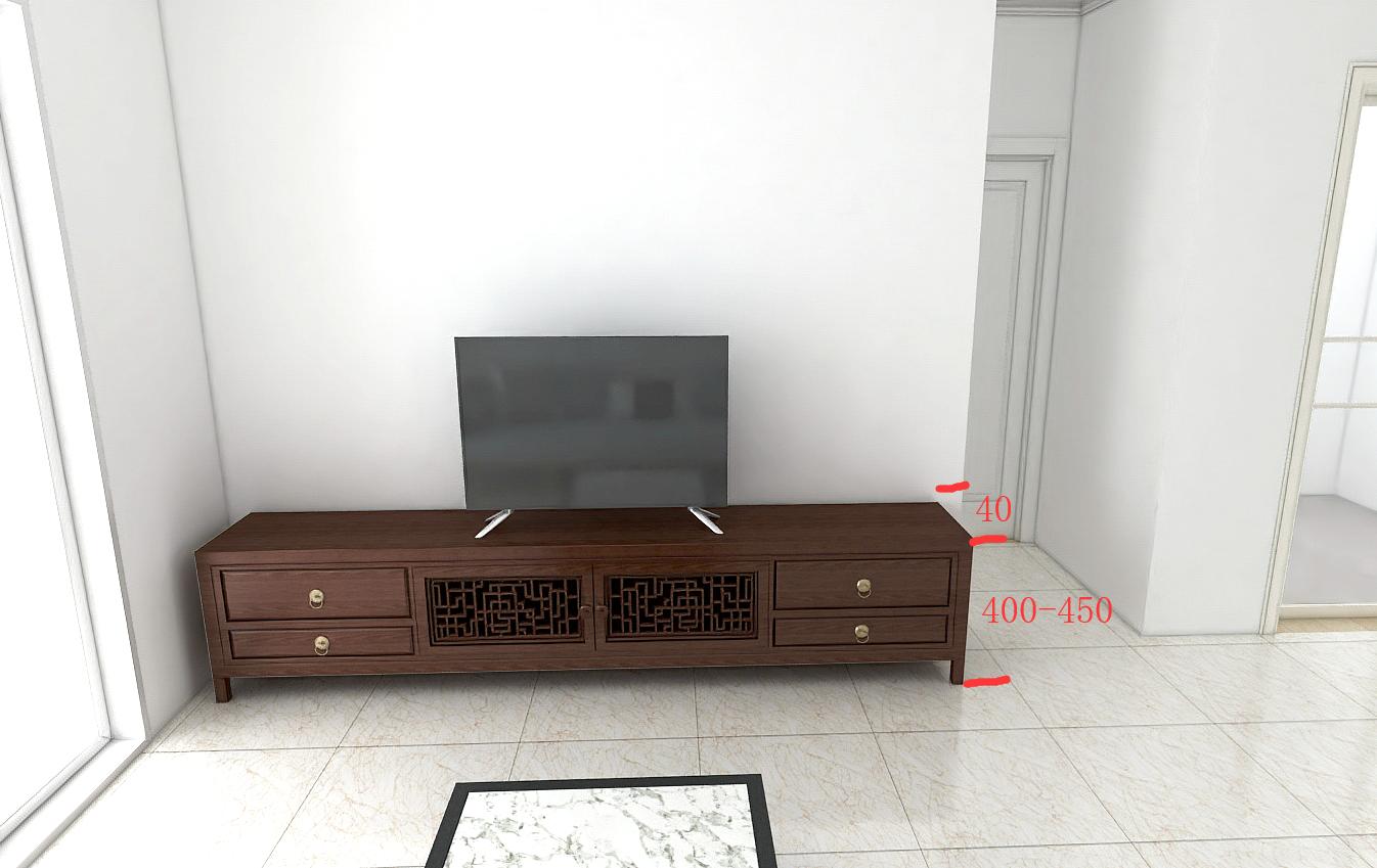 全屋定制家具讲解之电视柜进深高低的要求尺寸设计方面讲解