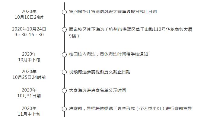 2020年第四届浙江省德语风采大赛海选通知
