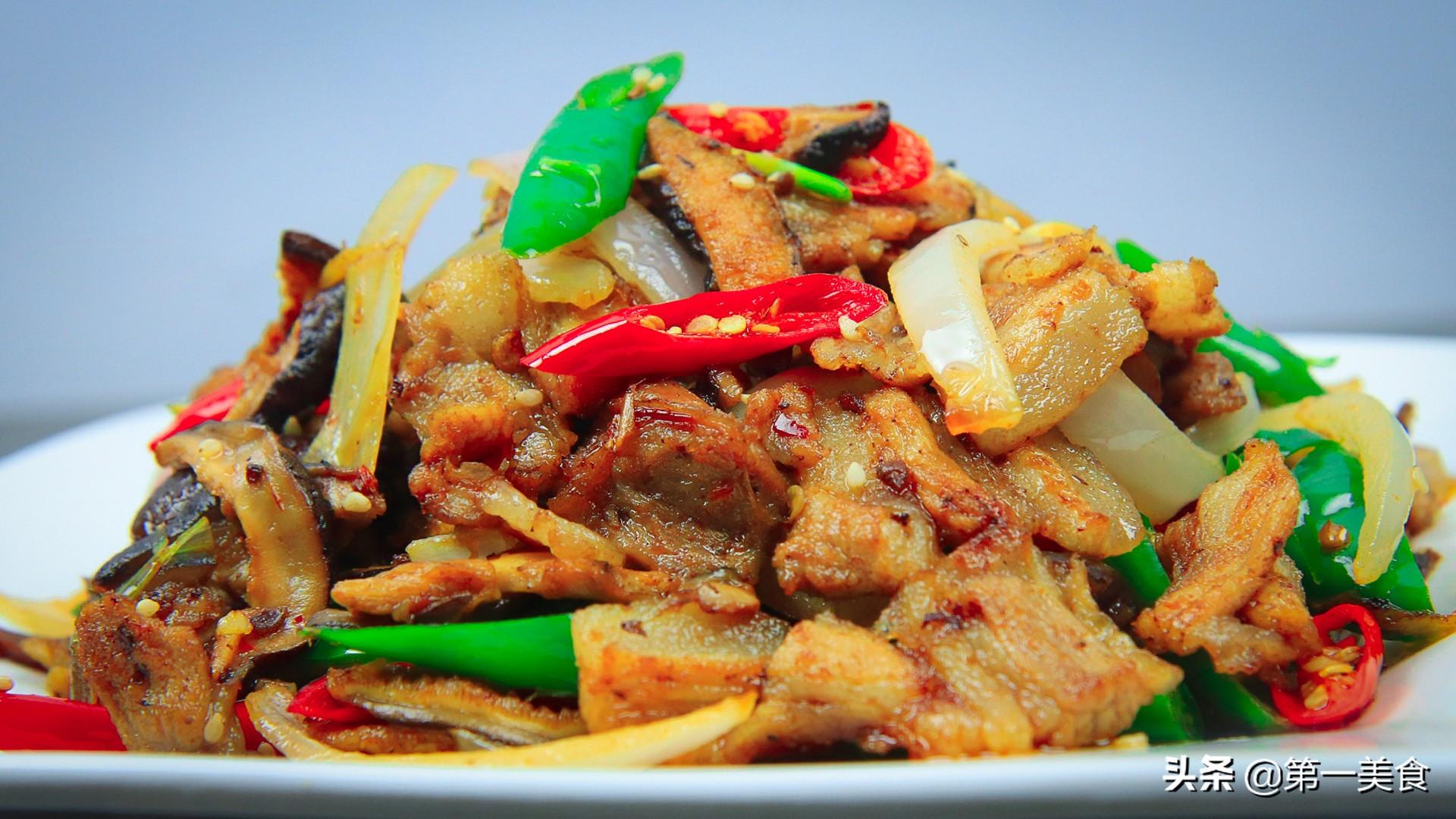 香菇小炒肉怎么做才好吃,大厨教分享技巧,香菇滑嫩,肉片不油腻 美食做法 第1张