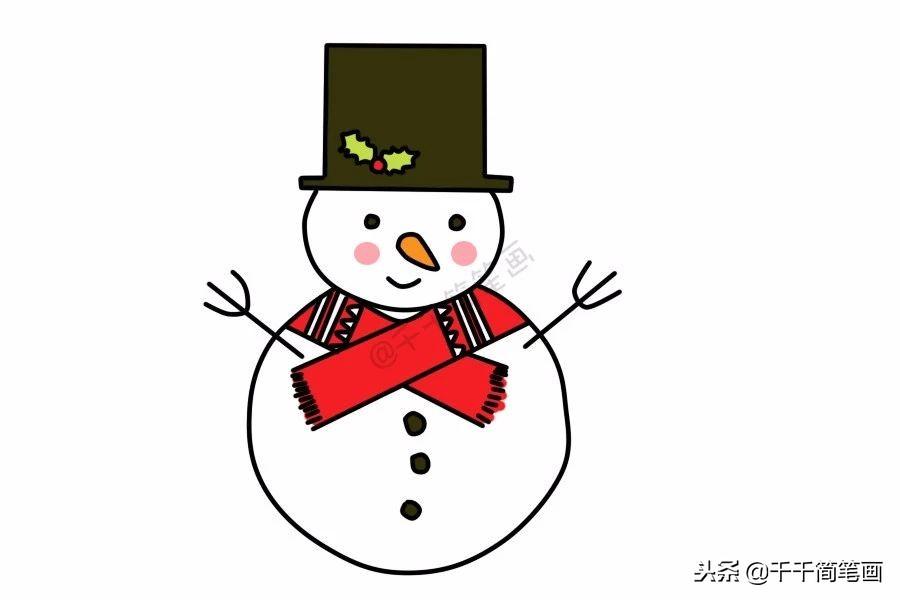 雪人简笔画视频图文教程