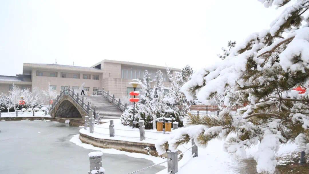 雪景下的平凉广成大酒店格外的美