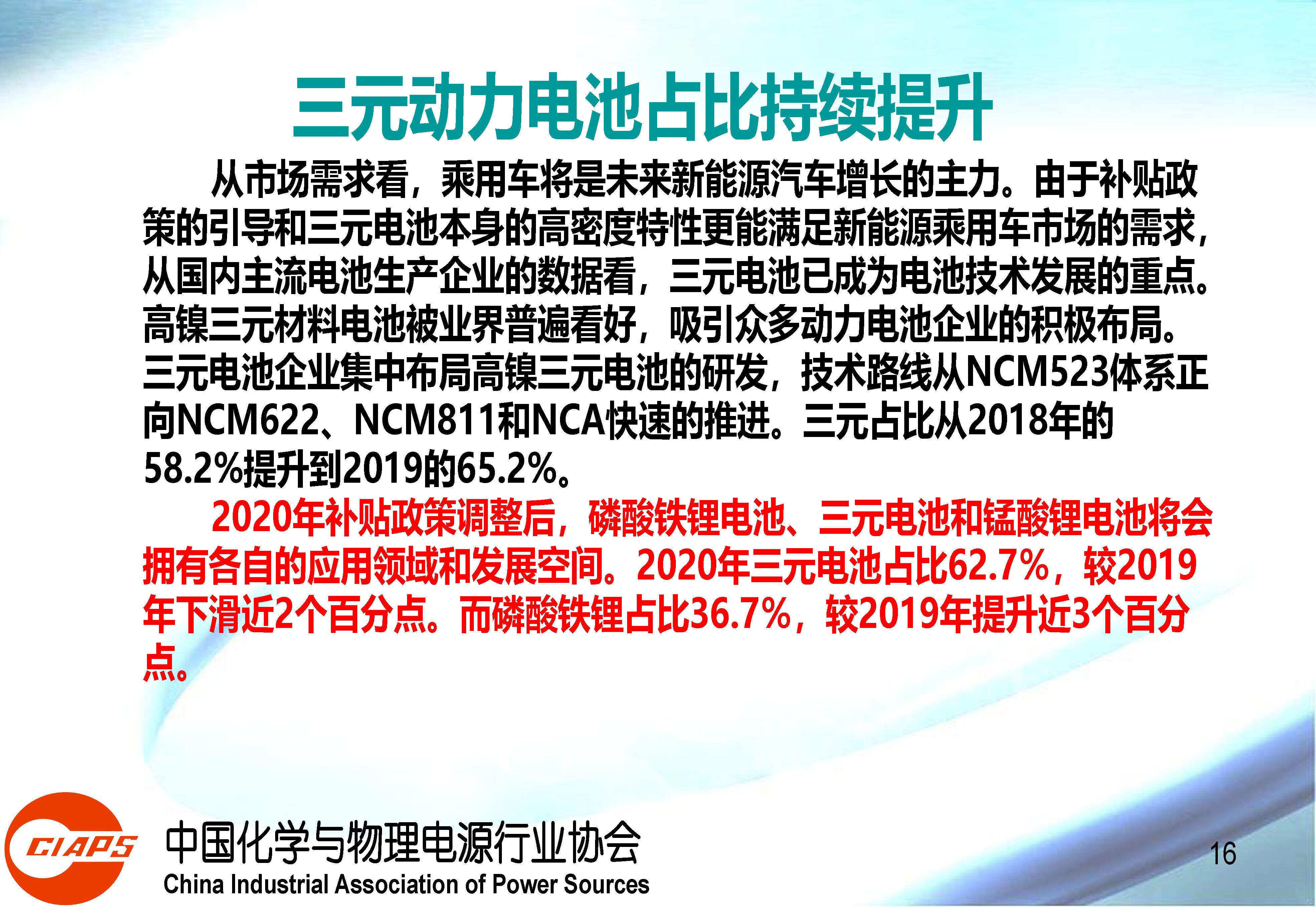 权威报告:中国动力锂离子电池产业发展的现状与机遇