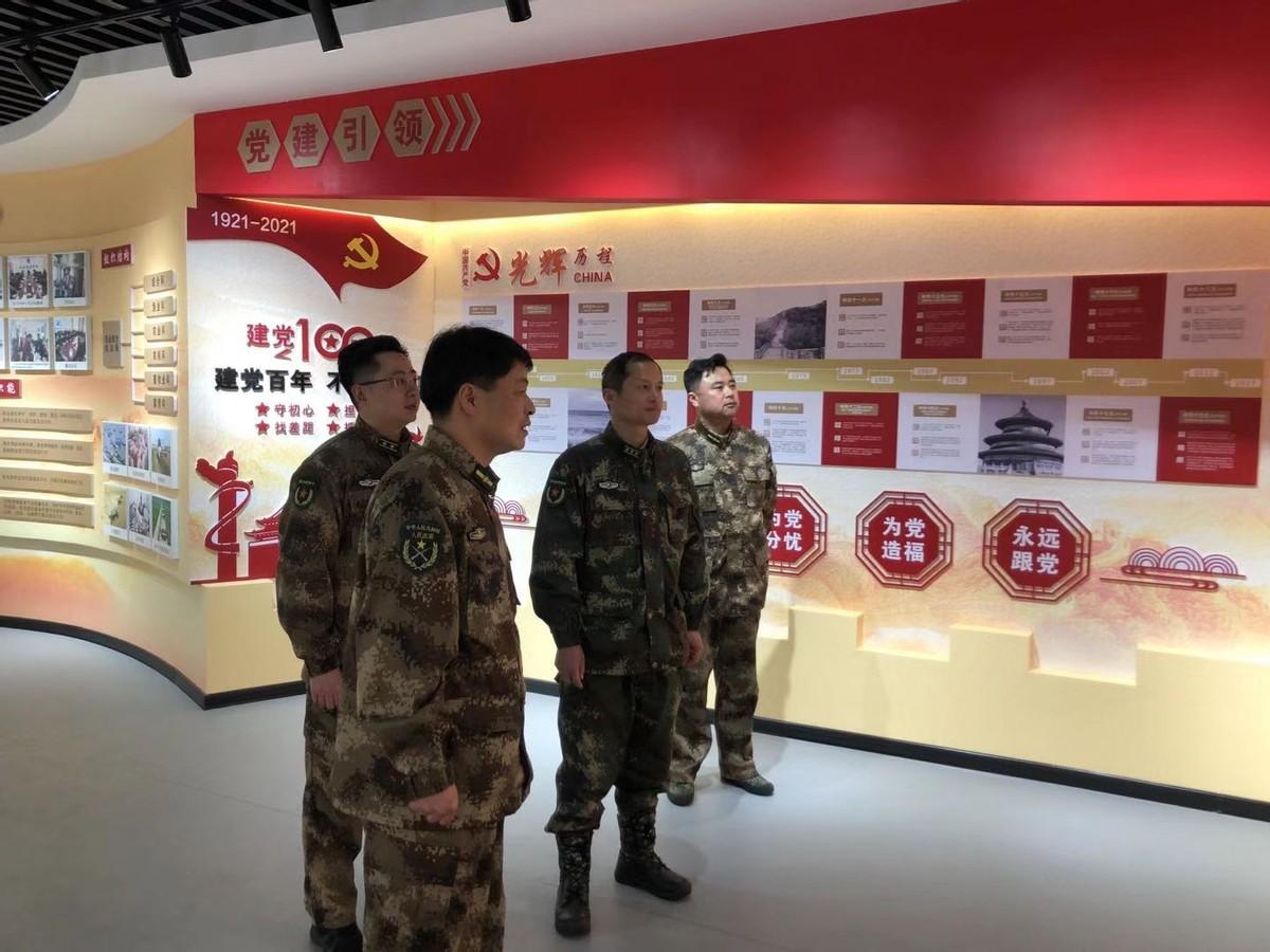江苏响水县人武部部长钱德强调研农业农村基层人武规范化建设工作