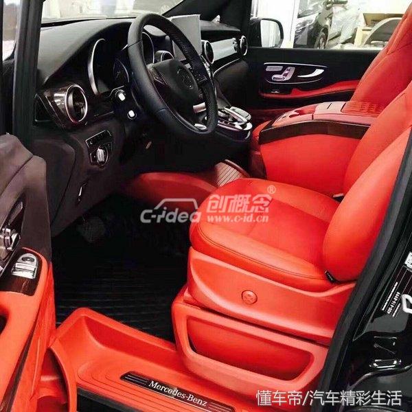 奔驰V260豪华改装 高端商务车配置顶尖