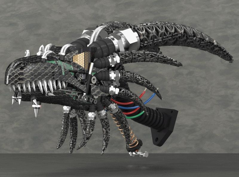 机械龙头模型3D图纸 Solidworks设计