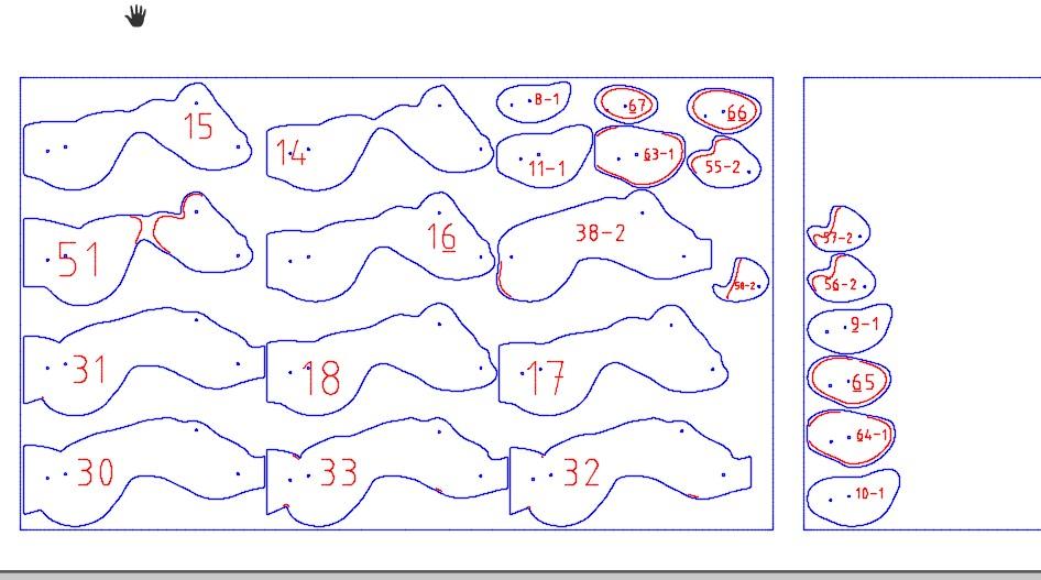 女性躯干DIY胶合板模型图纸 dxf格式