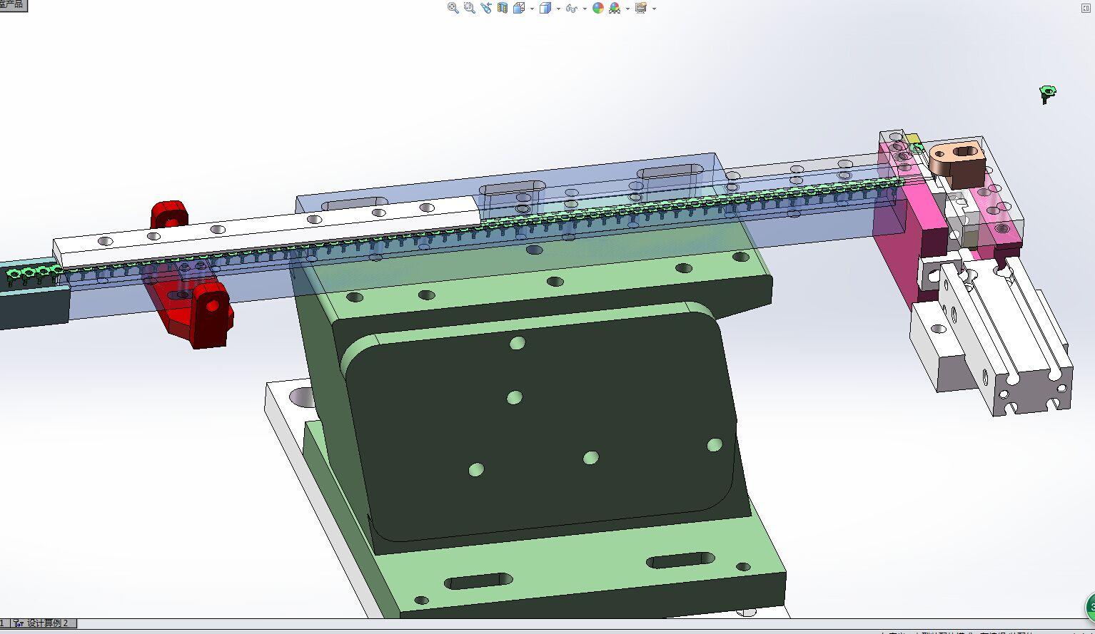 L型铁片振动盘拱料分料机构3D模型图纸 Solidworks设计