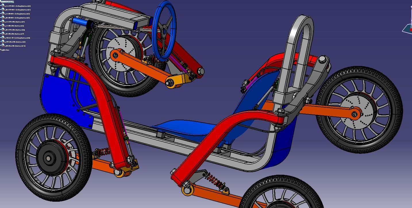 【免费】Swincar E-Spider单座全时四驱电动越野车3D图纸 STP格式