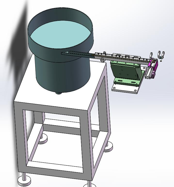 小塑料圆形零件振动盘送料3D模型图纸 Solidworks设计