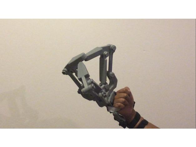 MVII BIG版Black Ram设计的手臂外接式机械手3D打印图纸 stl格式