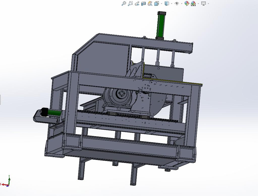 16寸铝型材液压成品锯(带送料架)3D模型图纸 Solidworks设计