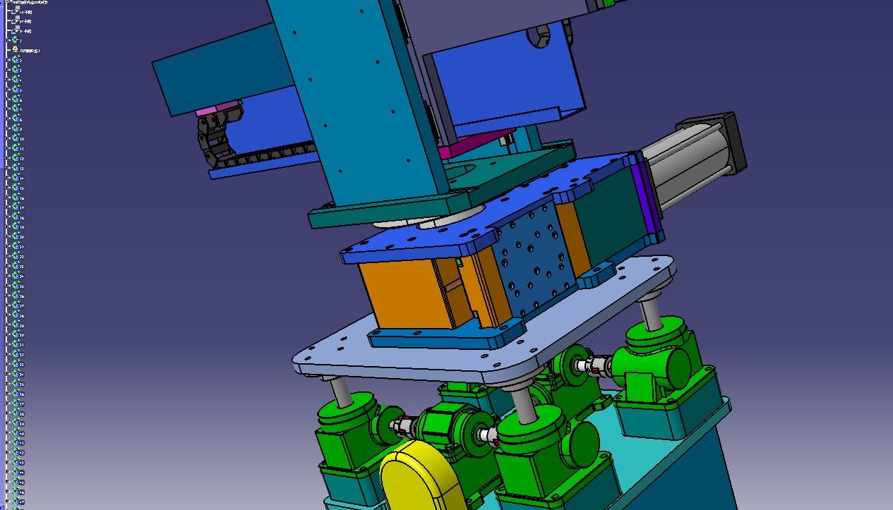 冲床油压机四轴送料机械手3D模型图纸 STP格式