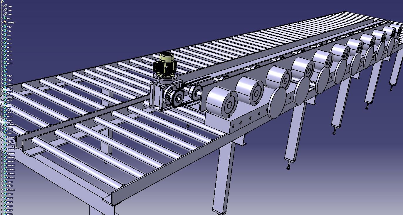 辊式送料机3D模型图纸 STP格式