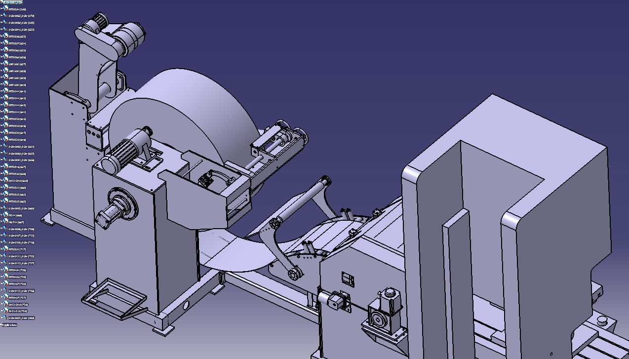 三合一冲床钢带送料机3D模型图纸 STP格式