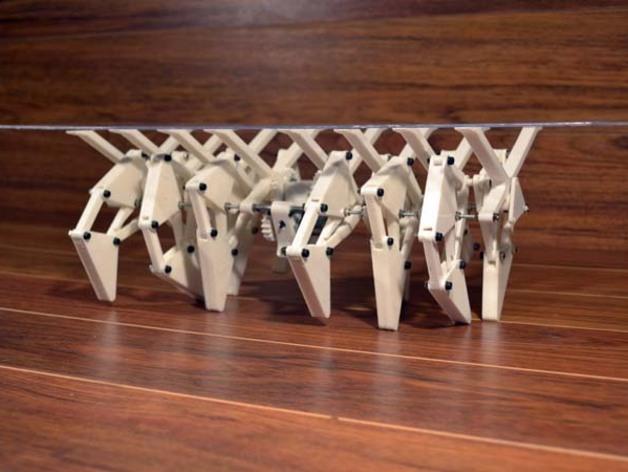 会走的桌子趣味模型(Strandbeest结构)3D打印图纸 STL格式