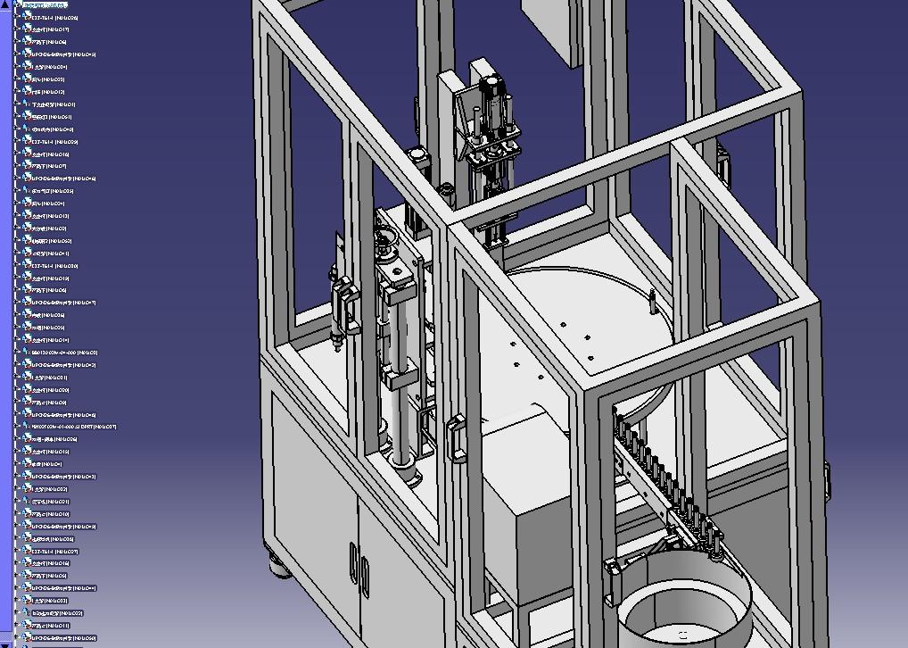 自动送料锁螺丝机总装3D模型图纸 STEP格式