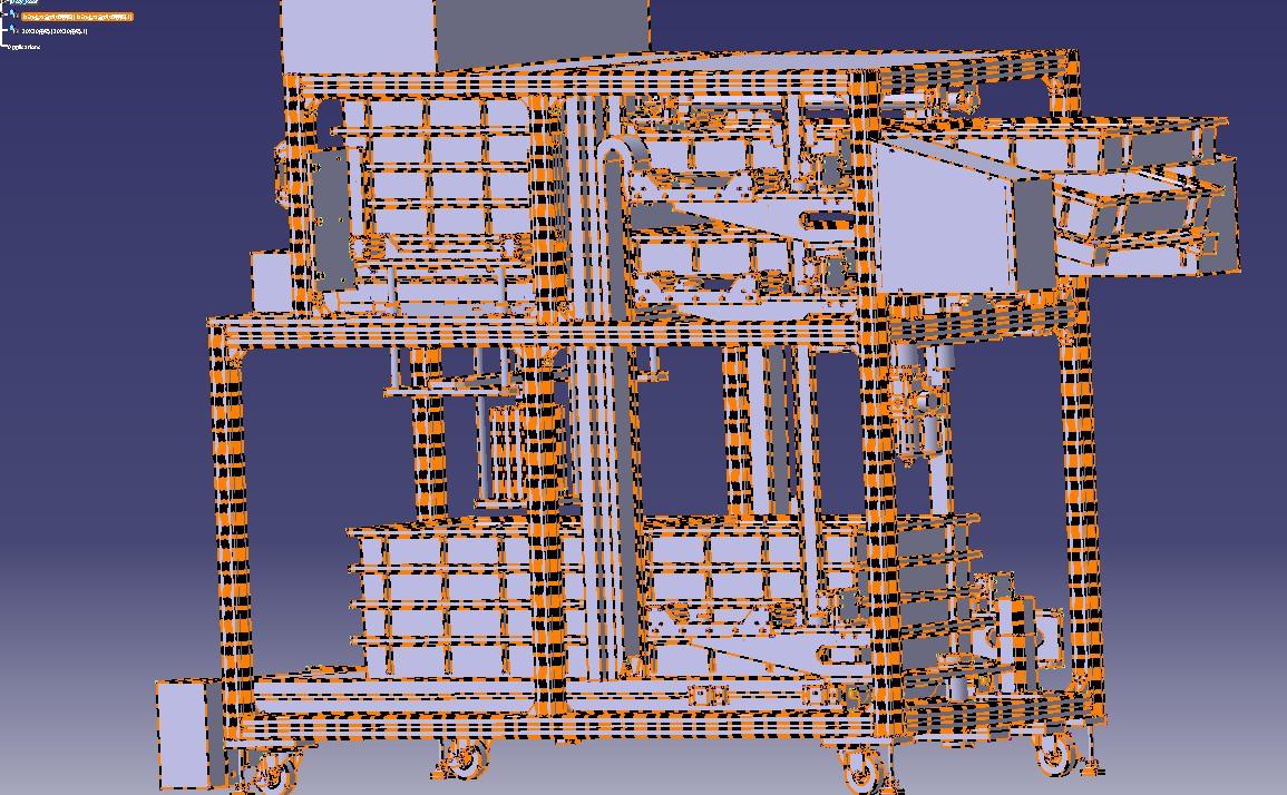 自动送料盒机 物料盒摆放设备3D模型图纸 STEP格式