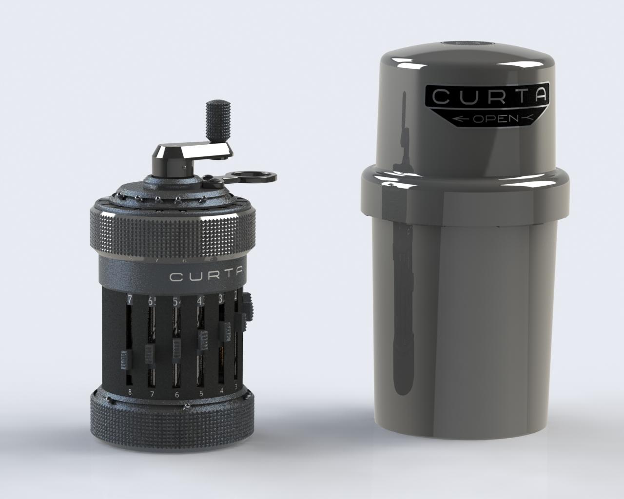 Curta手持机械式计算机器3D图纸(Type 1 ca 1930) Solidworks设计