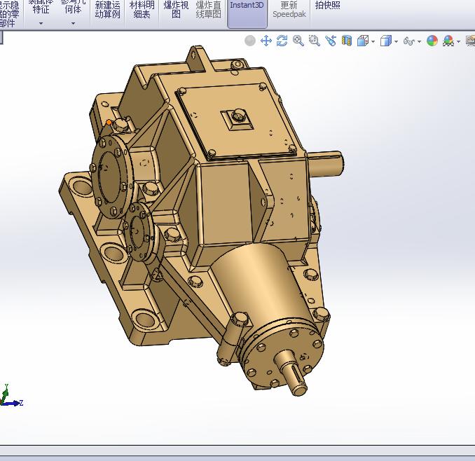 二级变速箱3D模型图纸 Solidworks设计