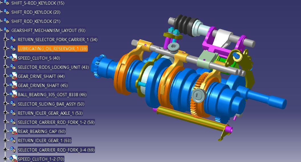 一款汽车变速器变速箱装置3D模型图纸 CATIA设计