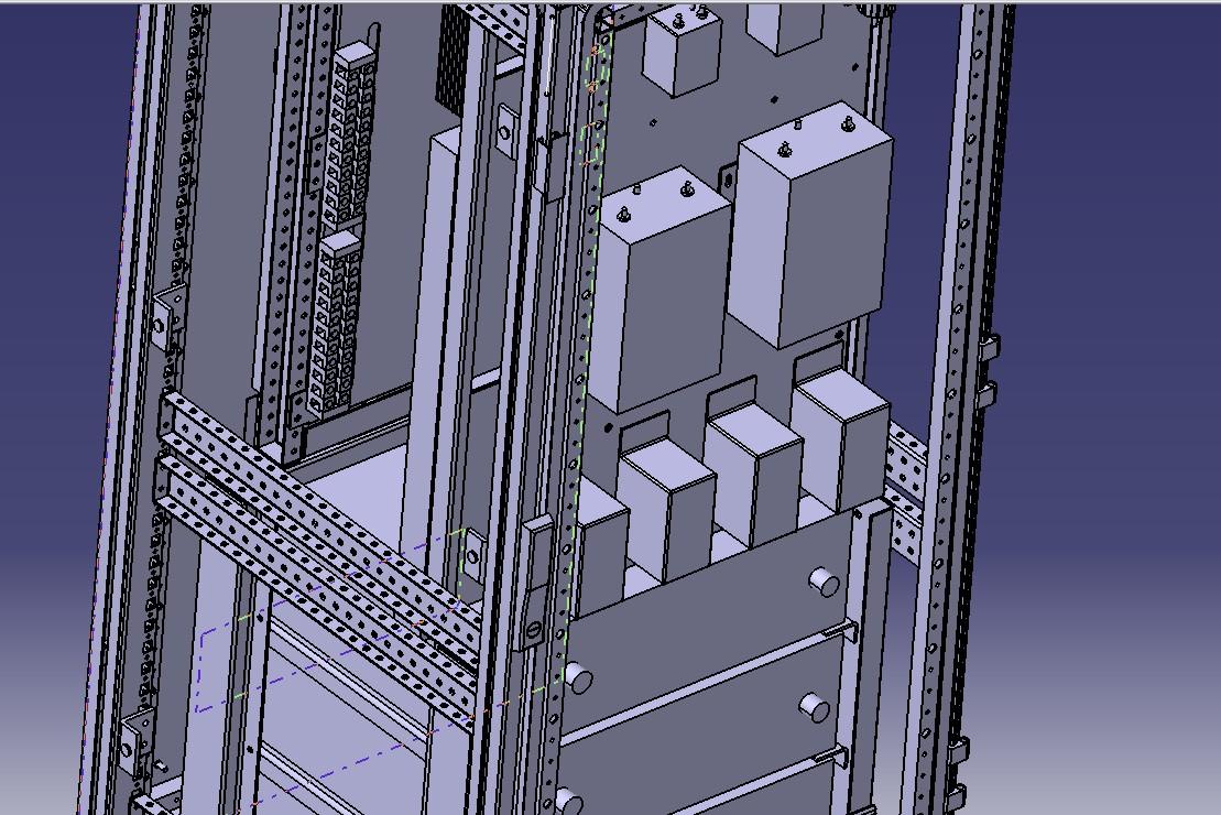 5KW光伏储能机柜3D模型图纸 STP格式